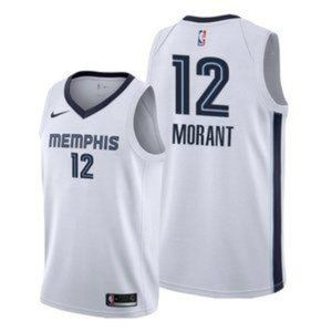 Memphis Grizzlies Ja Morant White JerseY
